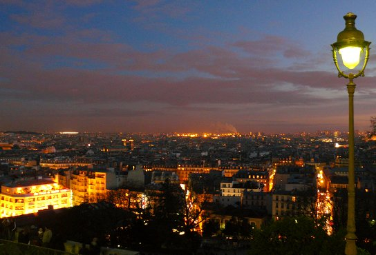 Montmartre Panorama at Night